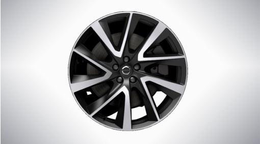 "21"" 5-V Spoke Black Diamond Cut Alloy Wheel - 1014"