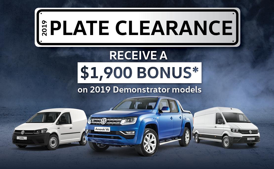 $1,900 Bonus on Volkswagen Commercial Models