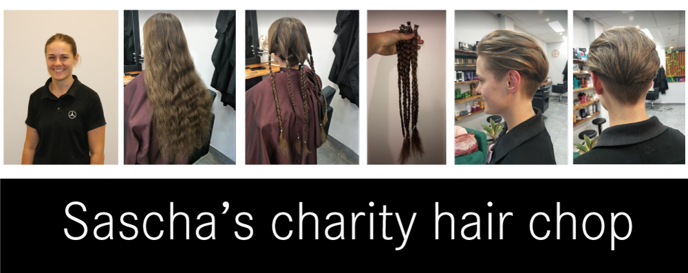 SASCHA DONATES HER LOCKS TO VARIETY CHILDREN'S CHARITY
