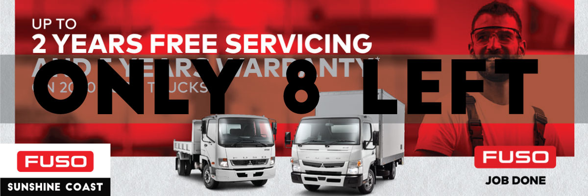 ONLY 8 FUSO FREE SERVICING TRUCKS LEFT!