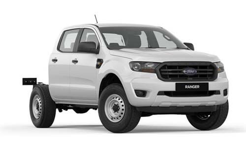 2018 MY19 Ford Ranger PX MkIII 4x2 XL Double Cab Chassis Hi-Rider Cab chassis