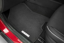 Tailored carpet floor mats (set of 4) - white stitching.
