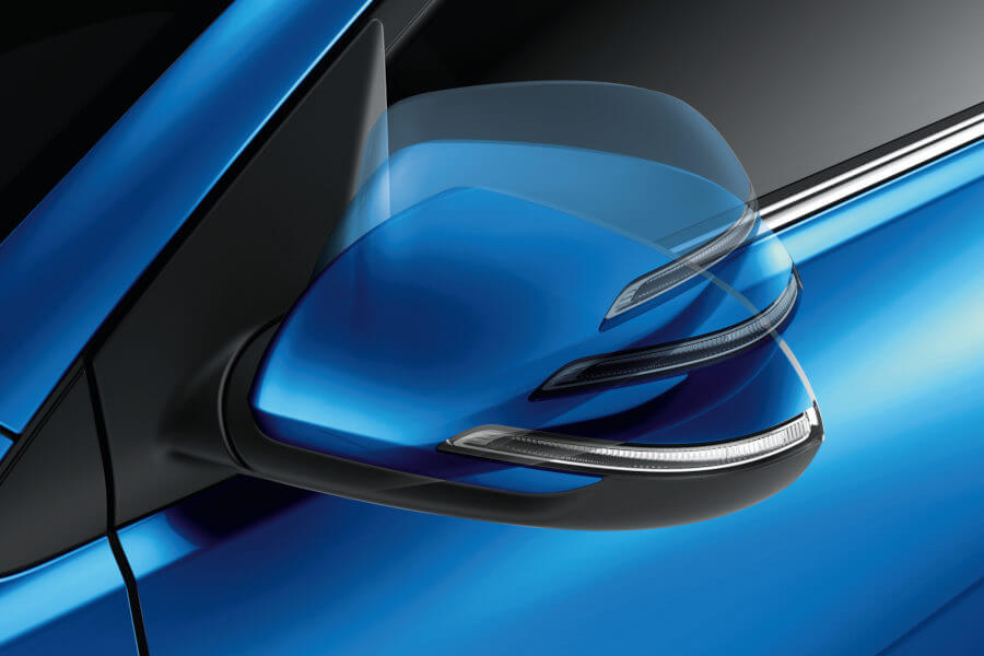 Heated Electric Folding Side Mirrors