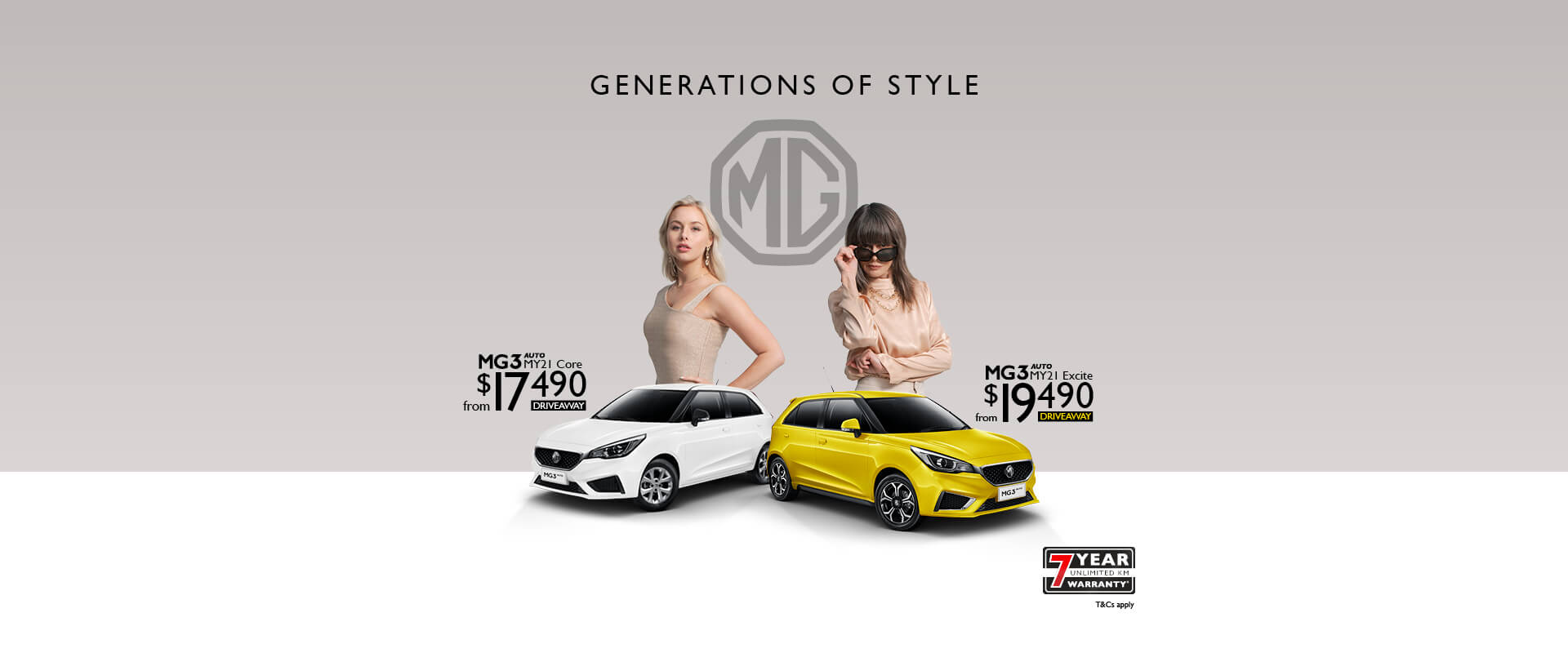 MG3 Generations of Style