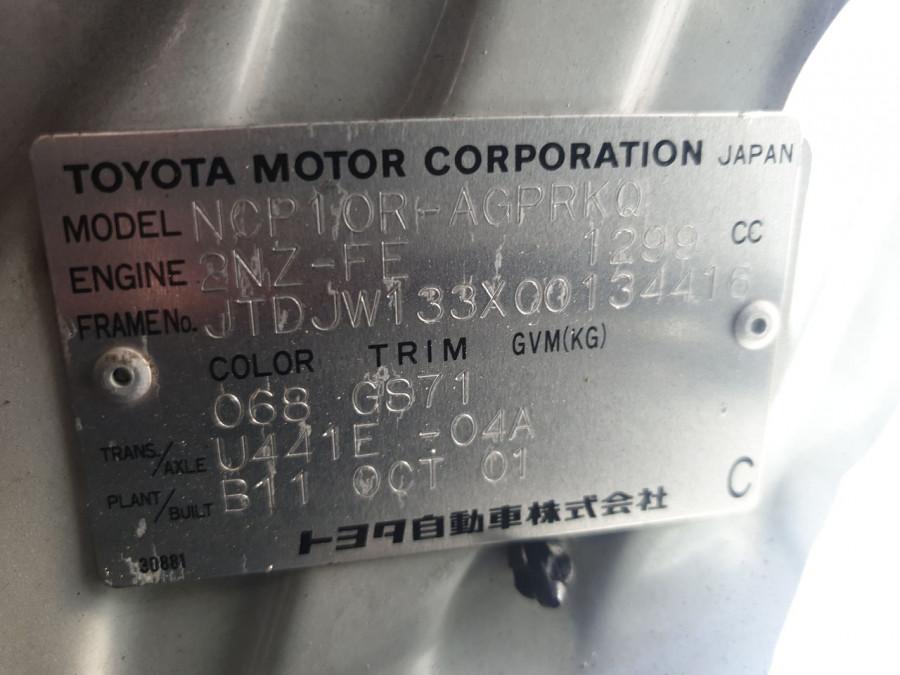 2001 Toyota Echo NCP10R NCP10R Hatch Image 14