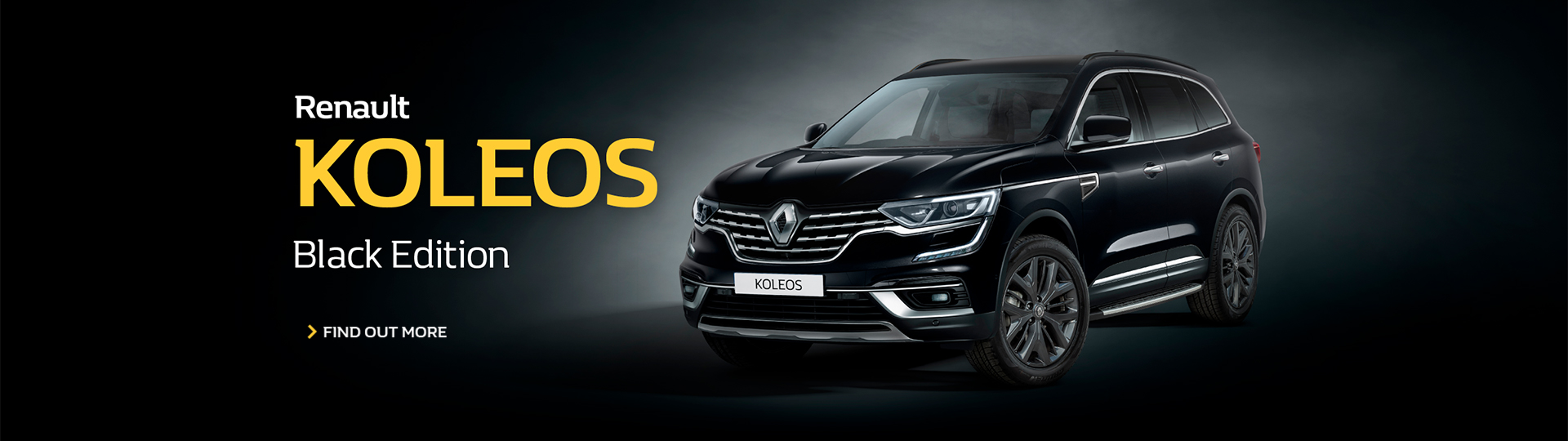 Renault KOLEOS Black Edition. Find out more