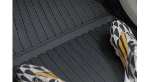 Shaped plastic passenger compartment mats
