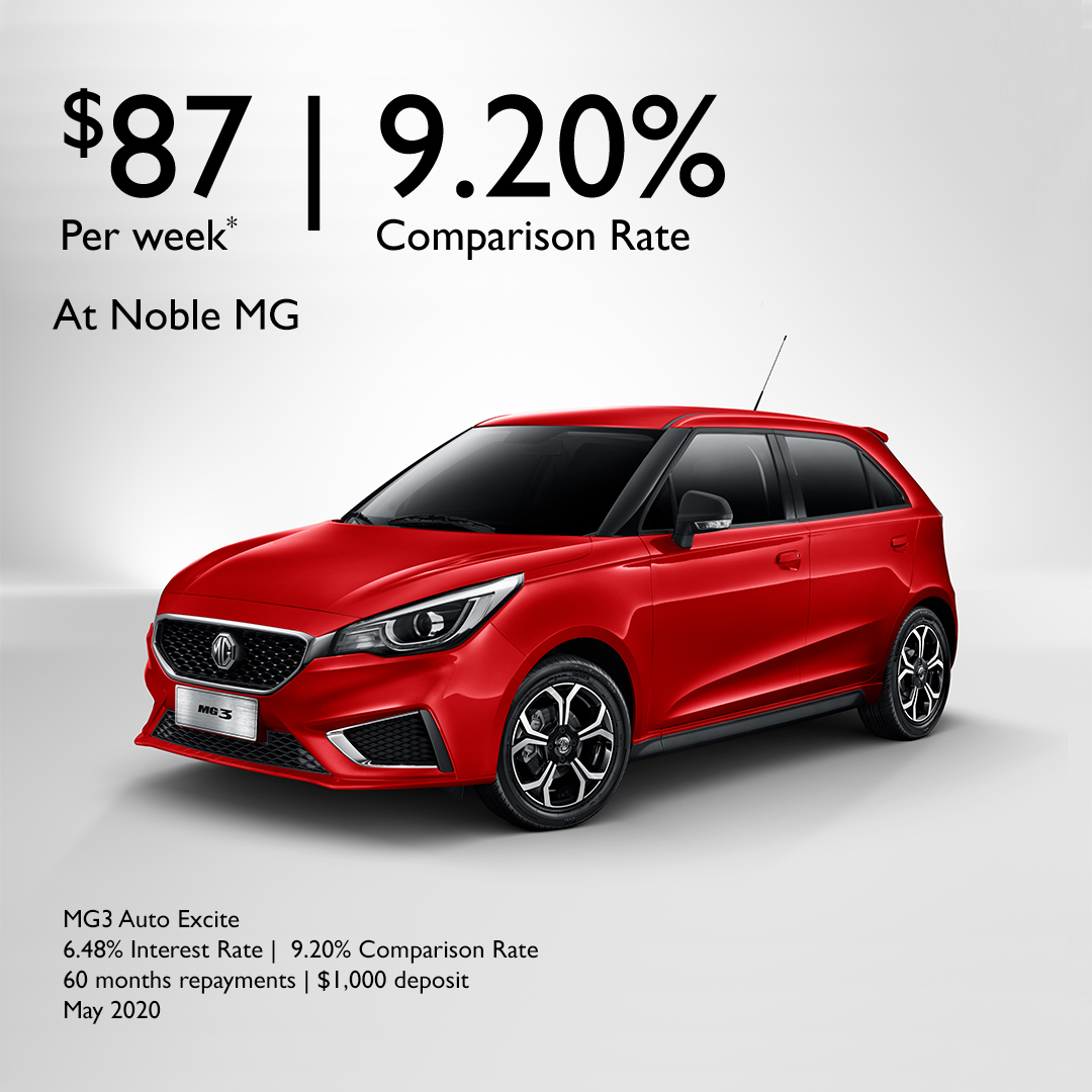 MG3 AUTO EXCITE FINANCE OFFER