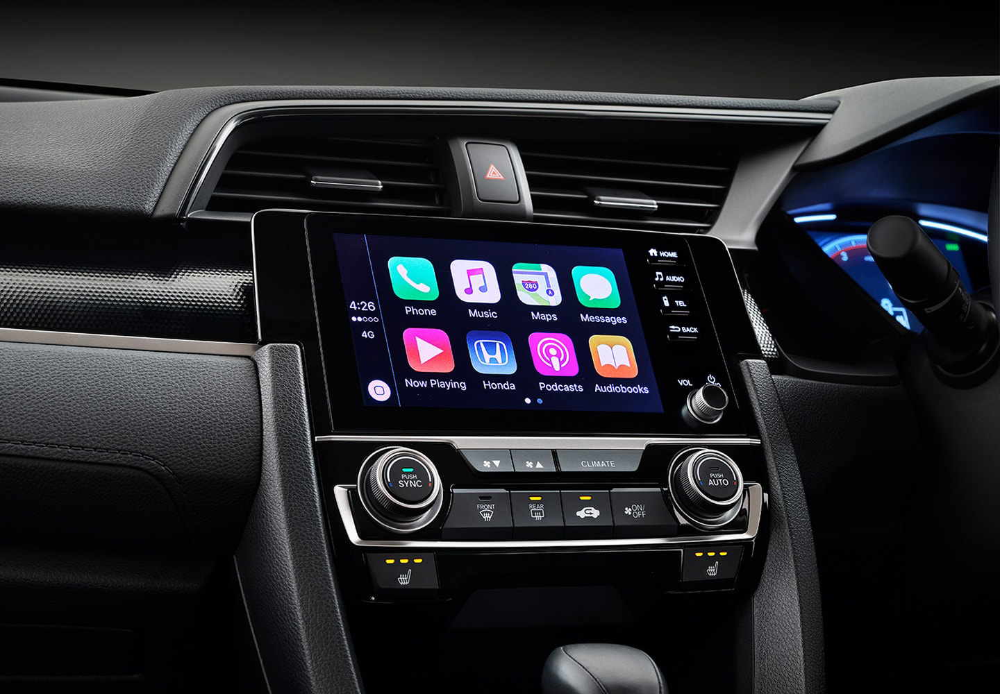Civic Sedan Apple CarPlay and Android Auto
