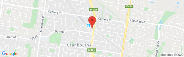 Cranbourne MG Map