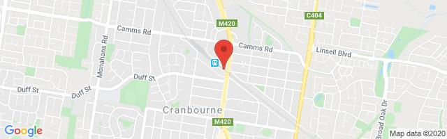 Cranbourne MG Map