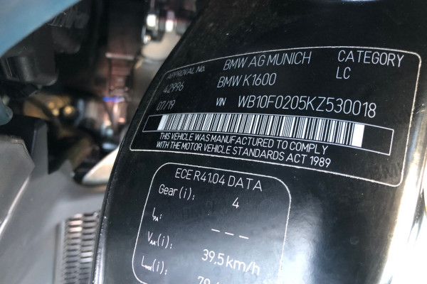 2019 BMW K1600 GTL Motorcycle Image 3