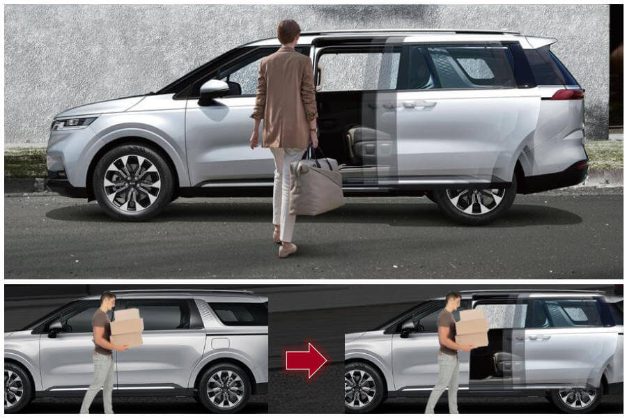 Hands-free smart power sliding doors and tailgate