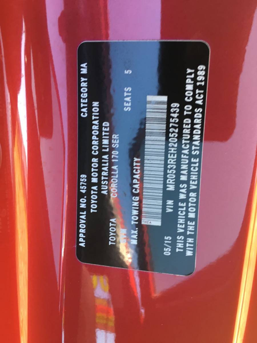 2015 Toyota Corolla ZRE172R Ascent Sedan Image 9