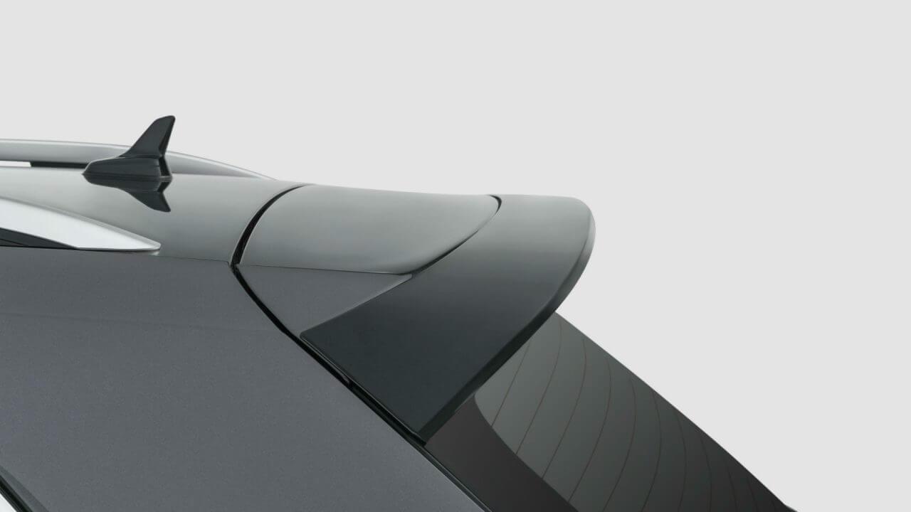Black rear spoiler
