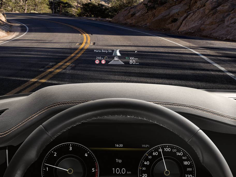 Eyes on the road, always Head-up display Image