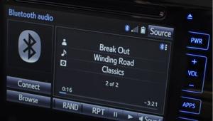 Corolla Sedan Audio system with six speakers