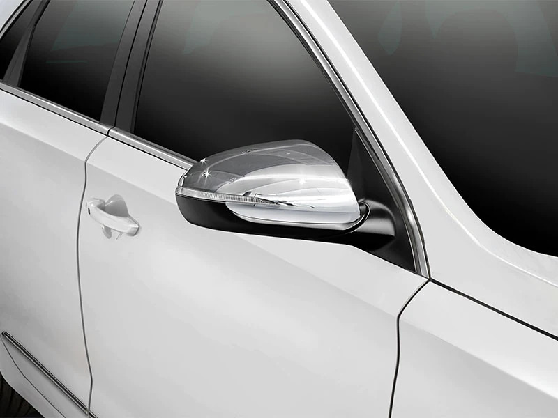 Chrome mirror covers (set of 2)