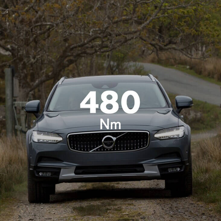 V90 Cross Country Big torque, little effort