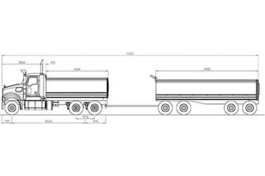 Trident 6x4 Axle Forward