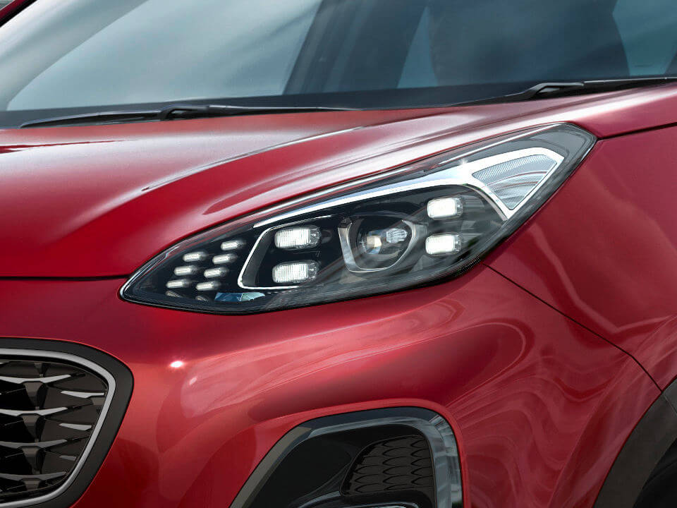 Sportage LED Headlights with Daytime Running Lights (DRL)