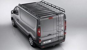 Steel roof rack - L1, swinging doors