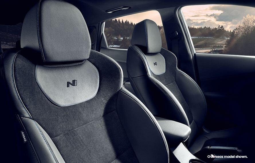KONA N N-exclusive interior styling.