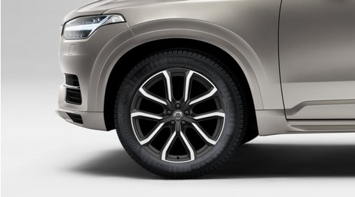 """Complete wheels, 20"""" 5-Double Spoke Matt Tech Black Diamond Cut - C234"""