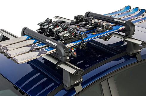 Rhino-Rack locking ski and snowboard carrier 6 skis