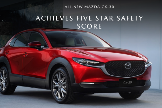 Five Star Safety Rating Awarded to the All New Mazda CX-30
