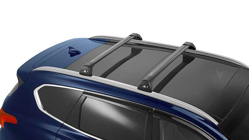 Hyundai genuine roof racks - flush