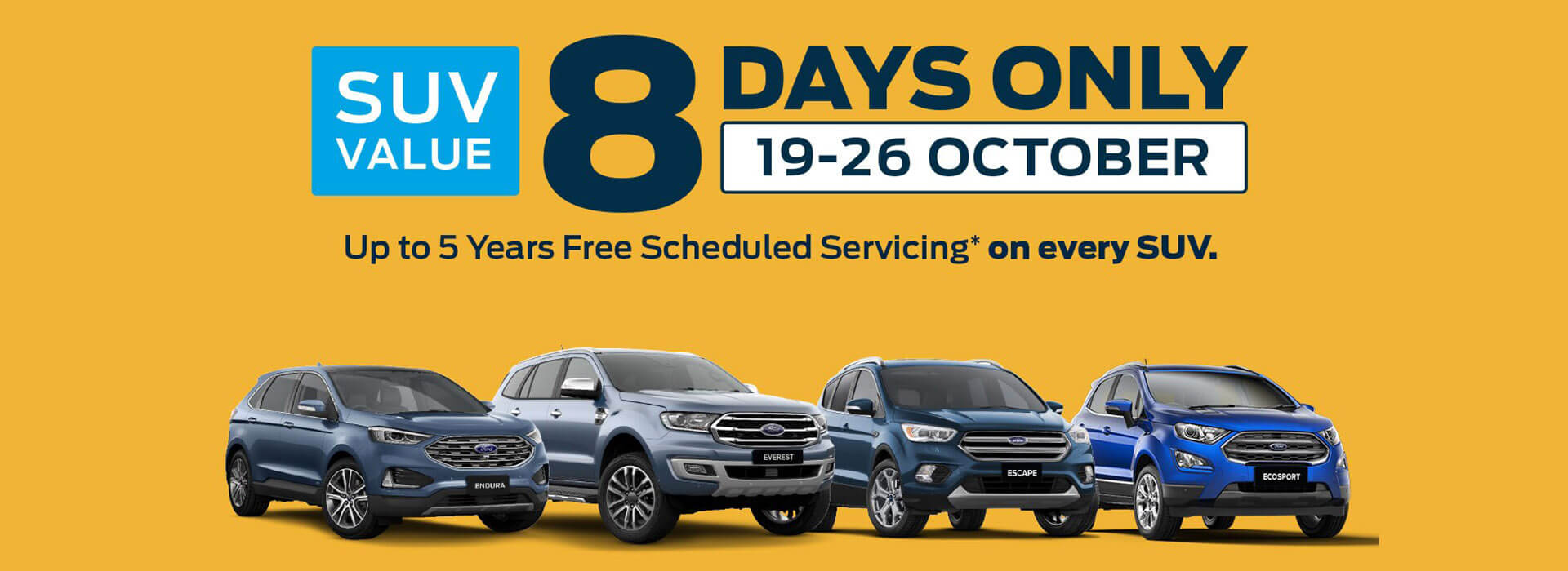 SUV Value 8 Day Sale