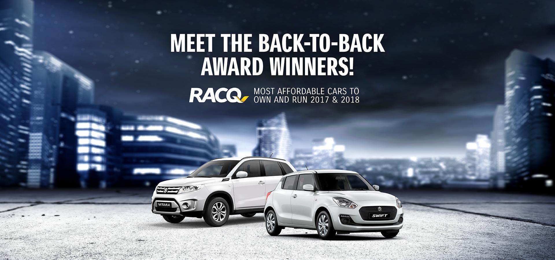 Suzuki Swift & Vitara - Wins RACQ's 2018 - Most Economical Car