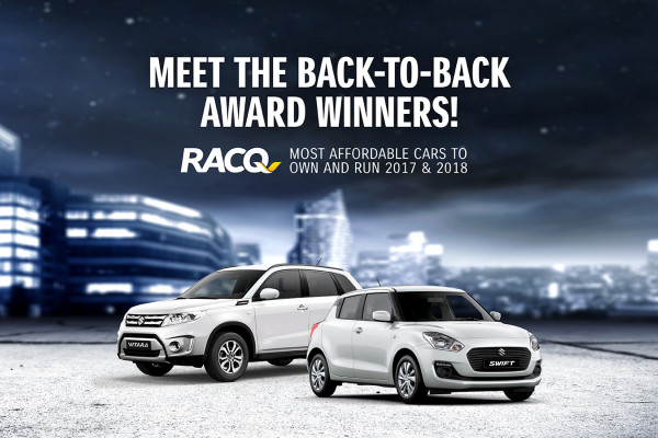 Suzuki Swift & Vitara - Wins RACQ's 2018 - Most Economical Car