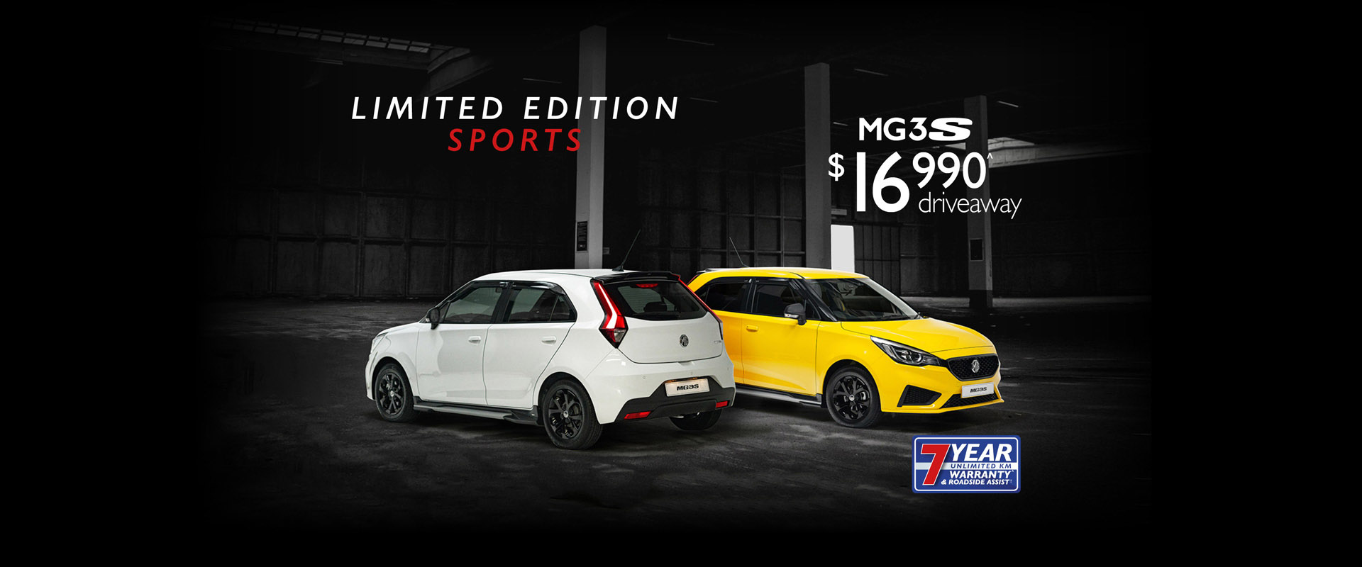 All new Limited Edition MG3S now available! Get yours now!