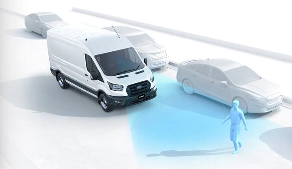 Transit Van Autonomous Emergency Braking (AEB) with Pedestrian Detection