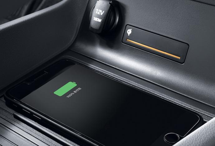 Wireless smartphone charging. Image