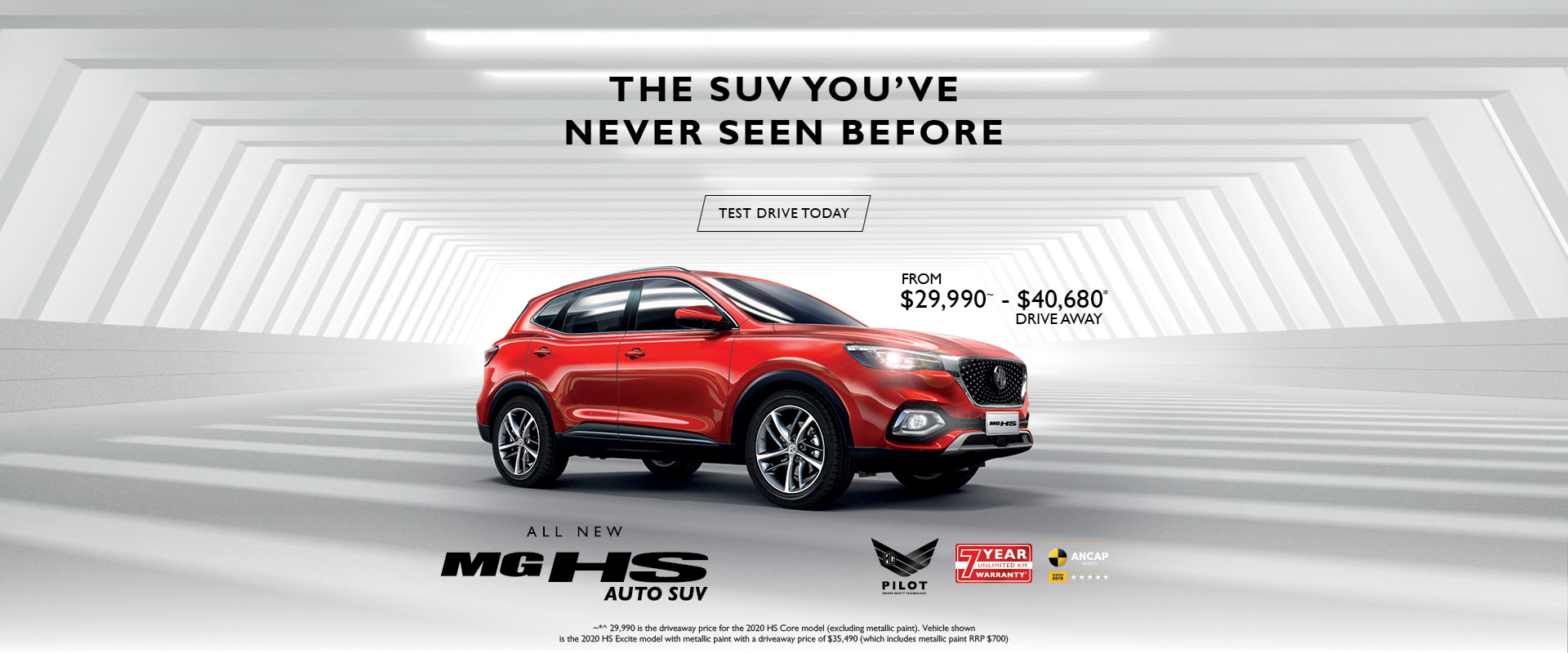 MG HS BEST VALUE TEST DRIVE OFFER - MG PARRAMATTA
