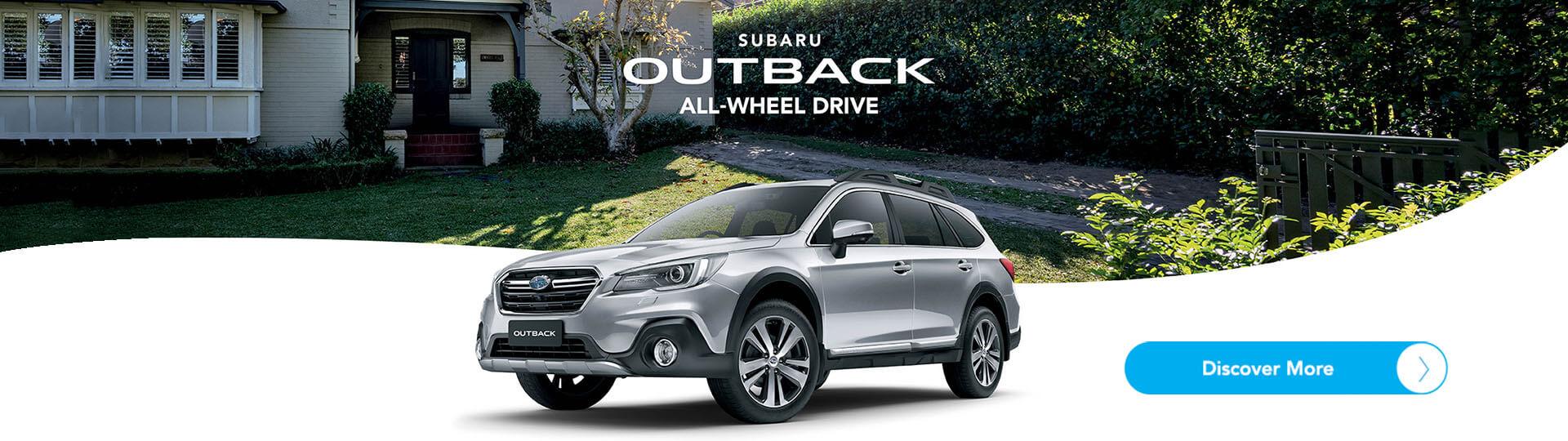 Subaru Outback. All-wheel drive. Discover more!