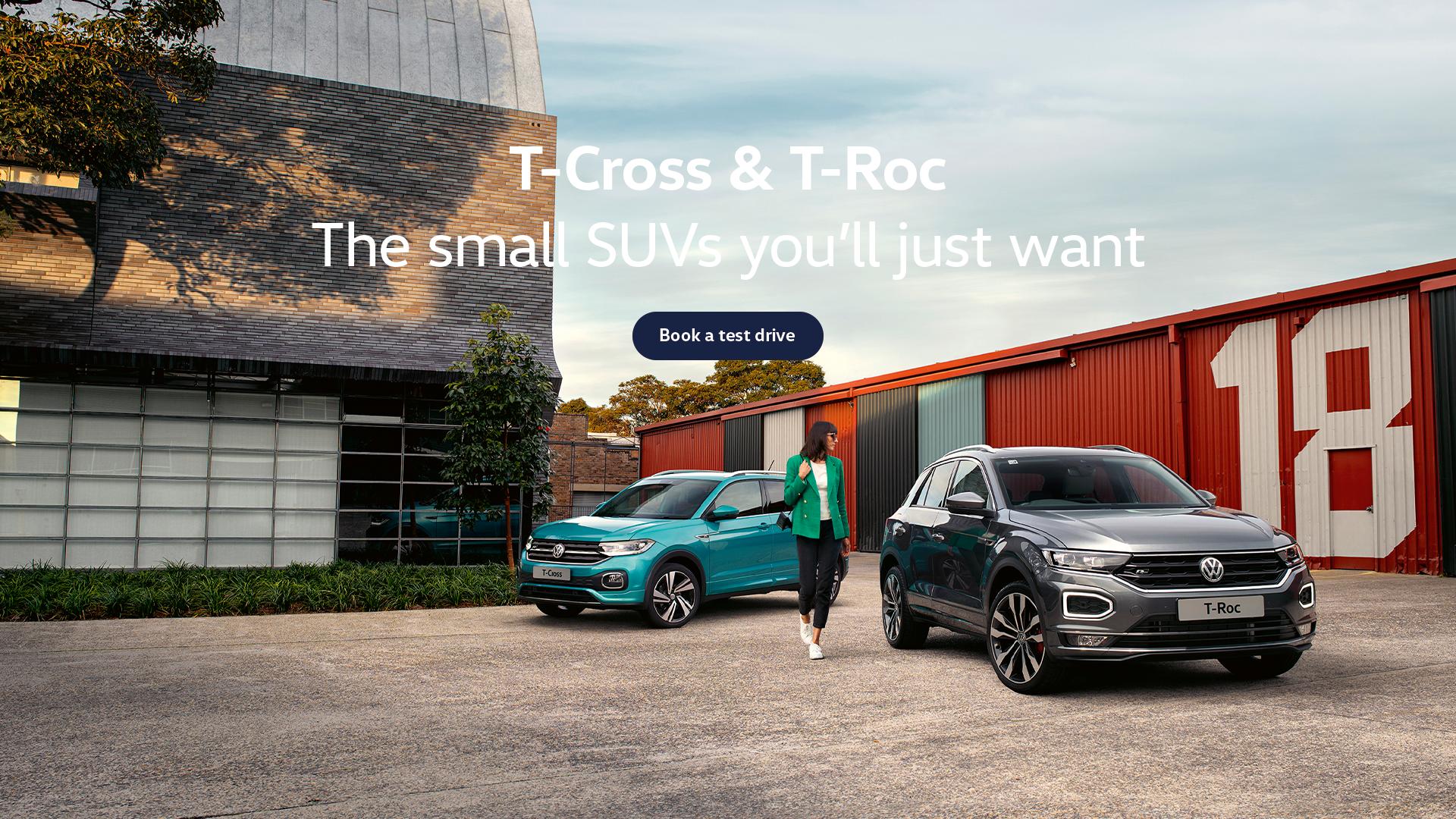 Volkswagen Small SUV range. Test drive today at Westco Volkswagen