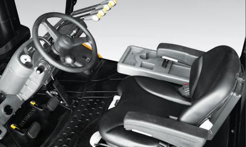 Ergonomic operator friendly compartment design
