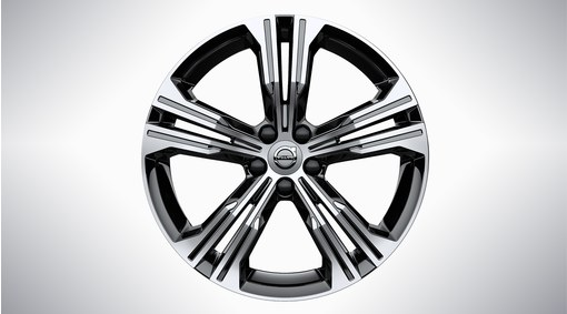 "19"" 5-Double Spoke Black Diamond Cut - 924"