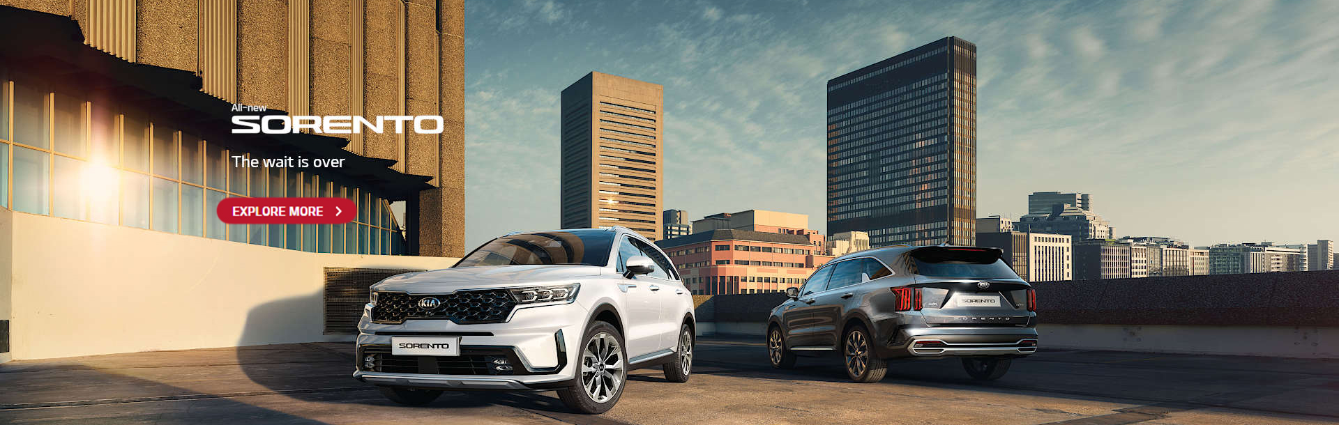 The all New Sorento. The wait is over. Explore more.