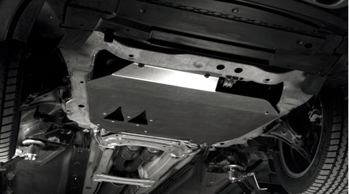 Protective plate, beneath the engine