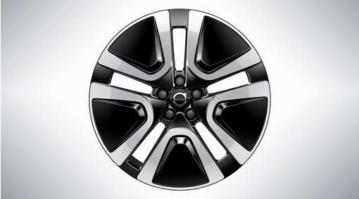"19"" 5-Double Spoke Black Diamond Cut - 1077"