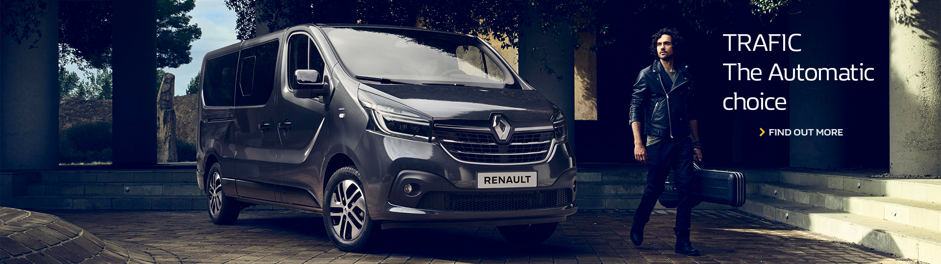Renault TRAFIC. The automatic choice. Find out more