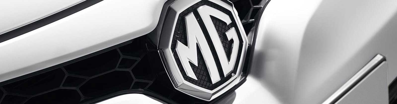 Close up of MG badge