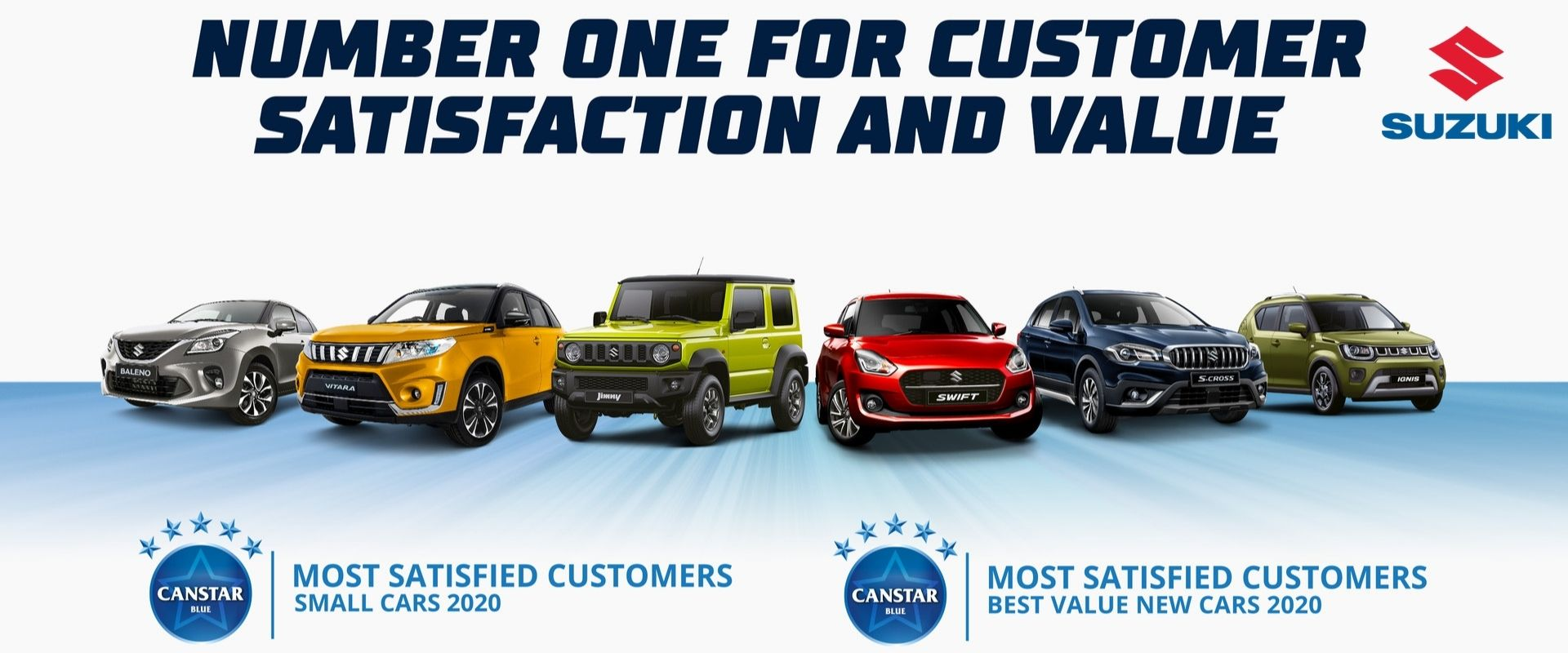 Suzuki. Number for Customer Satisfaction and Value.