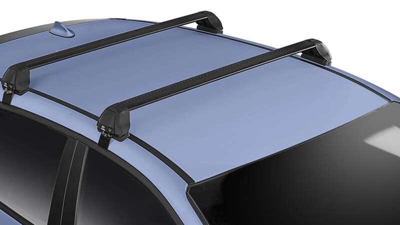 Hyundai genuine roof racks - flush.
