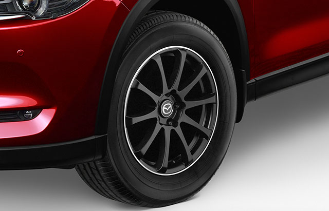 17-inch satin black alloy wheels
